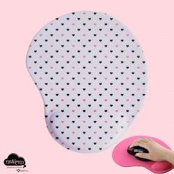 Mousepad oval com apoio