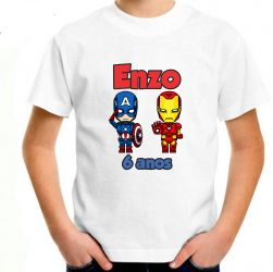 Camiseta personalizada branca infantil